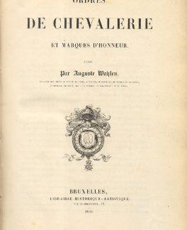 Ordres de chevalerie et marques d'honneur.