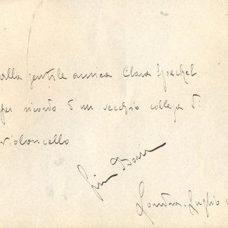 Violoncellista inizio secolo.