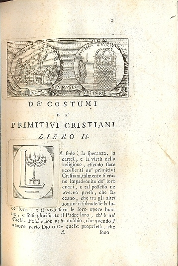 De' costumi de' primitivi cristiani.