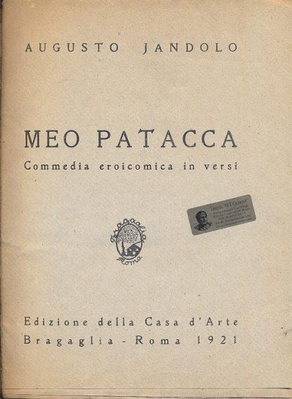 Meo Patacca. Commedia eroicomica in versi.