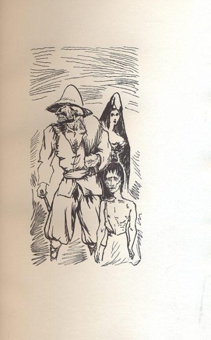 Lazarillo De Tormes. La novella è illustrata da ventun legni originali di Aligi Sassu. Tradotta da Gian Galeazzo Severi.