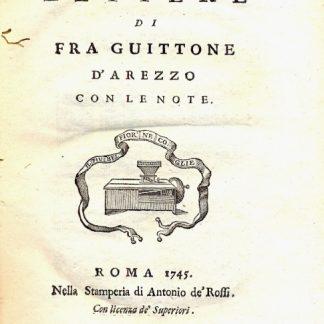 Lettere di Fra Guittone d'Arezzo. Con le note.