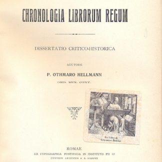 De Chronologia Librorum Regum. Dissertatio critico - historica.