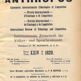 Revue Internationale d'Ethnologie et de Linguistique Anthropos.