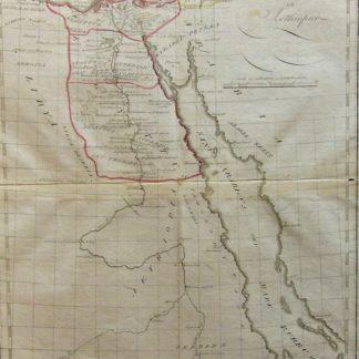 """Aegyptus antiqua et Aethiopia - tratta da """"Tabulae geographicae orbis veteribus noti""""."""