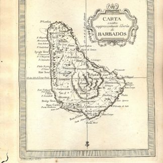Atlante dell'America contenente le migliori carte geografiche: Carta esatta rappresentante l'Isola di Barbados.