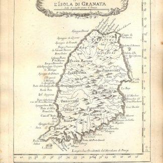 Atlante dell'America contenente le migliori carte geografiche: Carta esatta rappresentante l'isola di Granata.