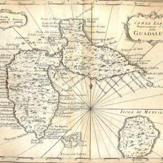 Atlante dell'America contenente le migliori carte geografiche: carta esatta rappresentante l'Isola della Guadalupa.