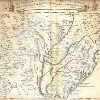 Atlante dell'America contenente le migliori carte geografiche: Carta esatta rappresentante il corso del fiume Paraguay ed i paesi ad esso vicini.