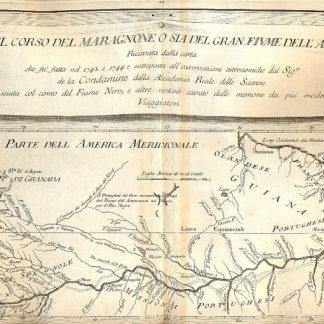 Atlante dell'America contenente le migliori carte geografiche: Carta del corso del Maragnone o sia del gran fiume dell'Amazzoni.