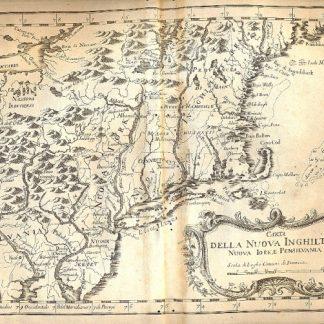 Atlante dell'America contenente le migliori carte geografiche: Carta della Nuova Inghilterra, Nuova Iork e Pensilvania.