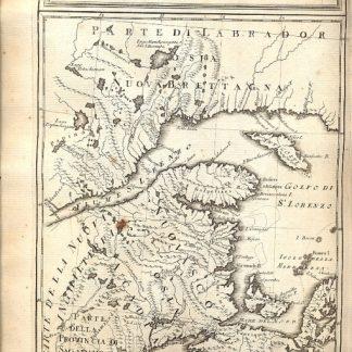 Atlante dell'America contenente le migliori carte geografiche: Carta rappresentante il Golfo del fiume S. Lorenzo.