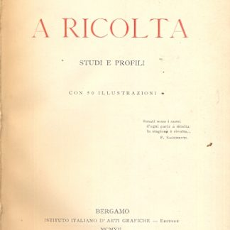 A Ricolta. Studi e profili.