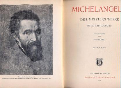 Michelangelo. Des meisters werke in 169 abbildungen. Herausgegeben von Fritz Knapp.