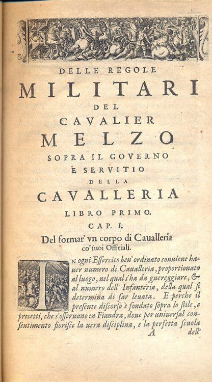 Regole militari sopra il governo e servitio particolare della cavalleria.