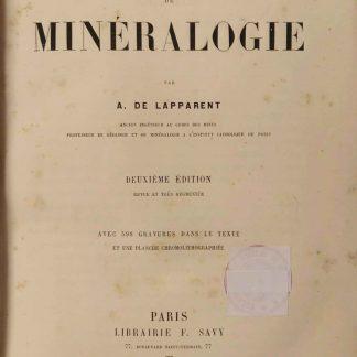 Cours de mineralogie.