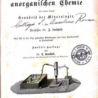 Lehrbuch der anorganischen Chemie mit einem kurzen Grundriss der Mineralogie.