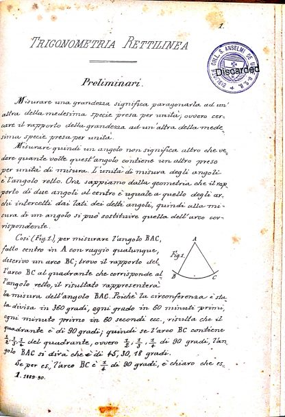 Trigonometria rettilinea.