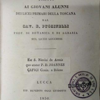 Elementi di agricoltura offerti ai giovani alunni dei licei primari della Toscana.