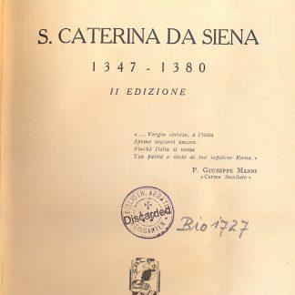 S. Caterina da Siena 1347 - 1380.