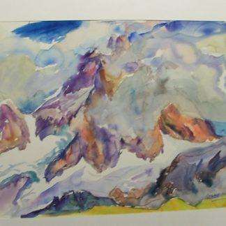 Il Cervino tra le nubi