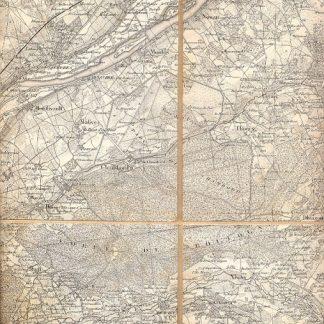 Carta geografica di Blois.