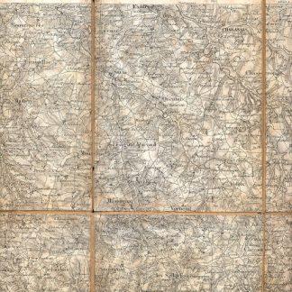 Carta geografica di Rochechouart.