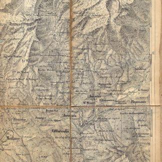 Carta geografica di Bardonecchia.