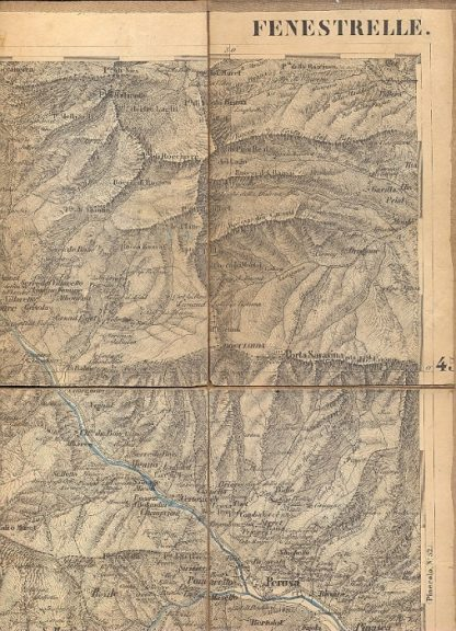 Carta geografica di Fenestrelle.