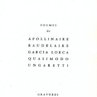 Impressionis. Poemes di, Apollinaire, Baudelaire, Garcia Lorca, Quasimodo, Ungaretti. Gravures de Santoro.