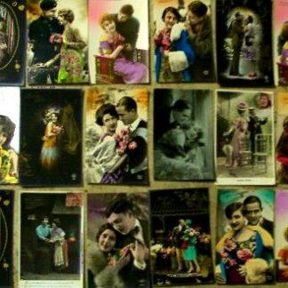 """Prestigiosa collezione di cartoline """"Belle Epoqué""""."""