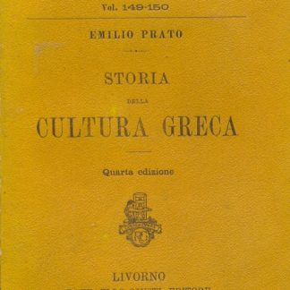 Storia della cultura greca.