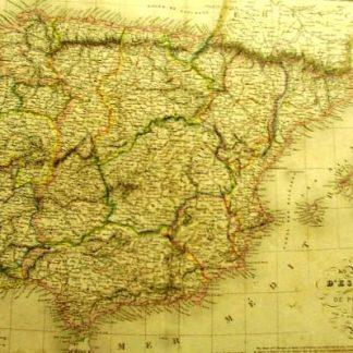 Espagne et Portugal (Atlas de Géographie ancienne et moderne adopté pour le Bibliotheques Militaures).
