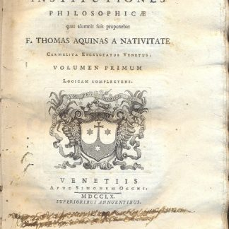 Institutiones philosophicae.