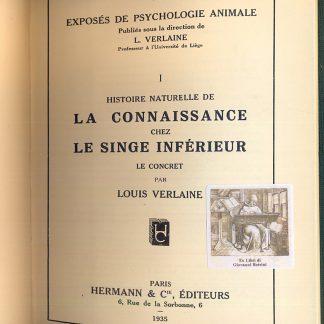 Histoire naturelle de la connaissance chez le singe inferieur: le concret, le syncretique, l'abstrait.