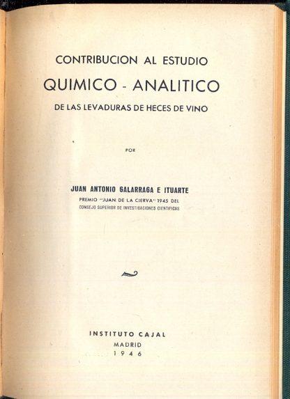 Contribucion al estudio quimico analitico de las levaduras de heces de vino.
