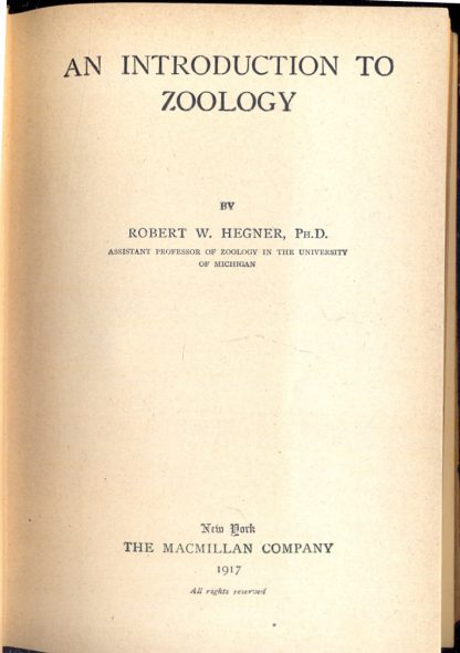 An introduction to zoology.