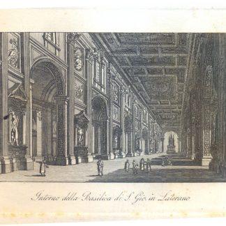 Interno della Basilica di San Giovanni in Laterano.