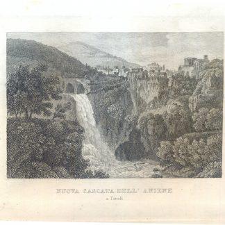 Nuova cascata dell'Aniene a Tivoli.