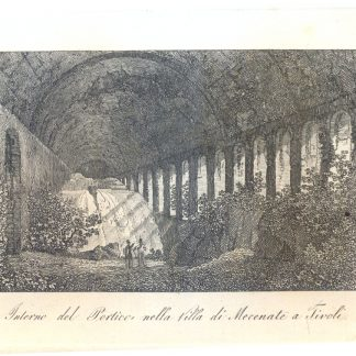 Interno del Portico nella Villa di Mecenate a Tivoli.