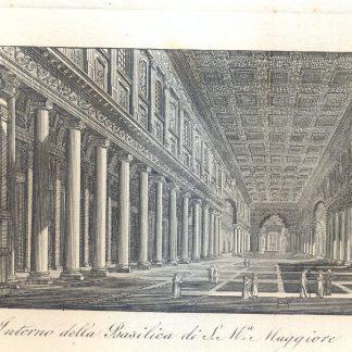 Interno della Basilica di Santa Maria Maggiore.