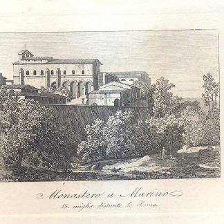 Monastero a Marino. 15 miglia distante da Roma.