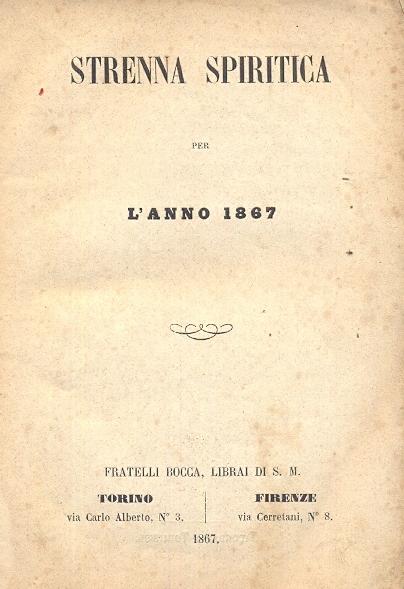 Strenna spiritica per l'anno 1867.