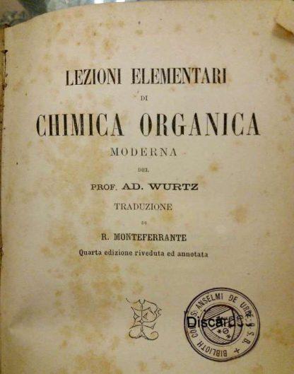Lezioni elementari di chimica organica moderna
