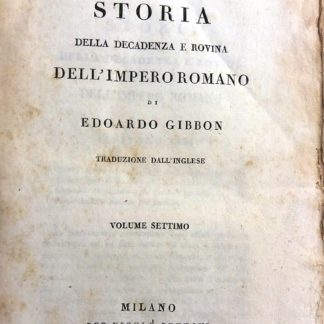 Storia della decadenza e rovina dell' impero romano