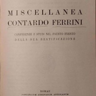 Miscellanea Contardo Ferrini