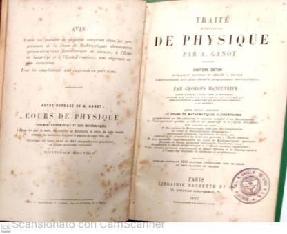 TRAITE ELEMENTAIRE DE PHYSIQUE
