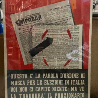 Locandina propaganda anticomunista La Pravda Pace e Libertà