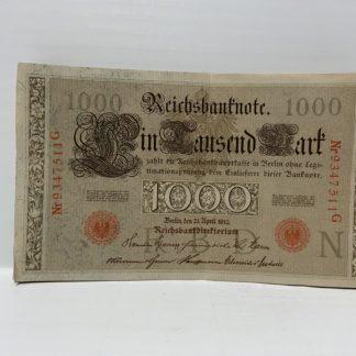 Cartamoneta tedesca del 1910