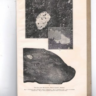 A newly found meteorite from near cullison, Pratt County, Kansas. N. 1952 - From te Proceeding of the United States National Museum, Vol. 44, pp. 325-330, with plate 54 - 55.
